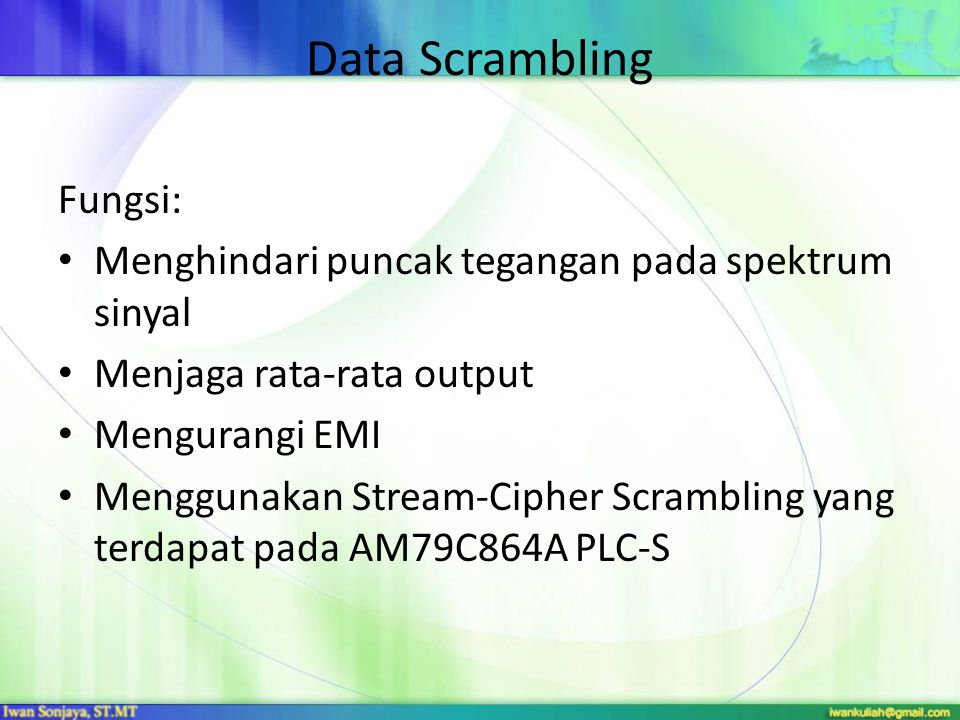 Data Scrambling Fungsi:
