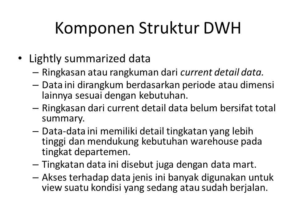 Komponen Struktur DWH Lightly summarized data