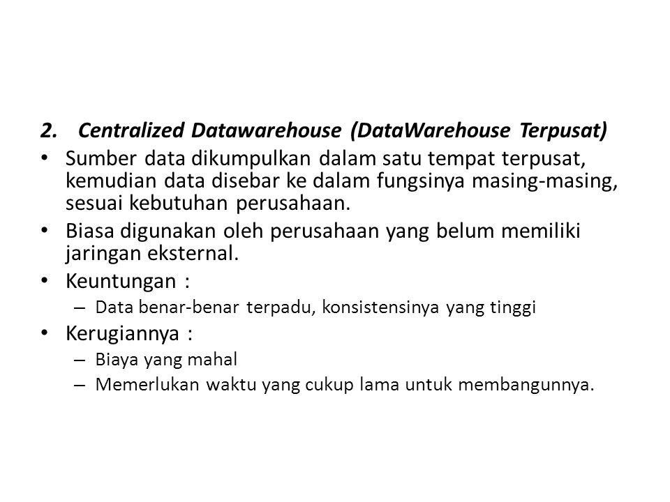 Centralized Datawarehouse (DataWarehouse Terpusat)