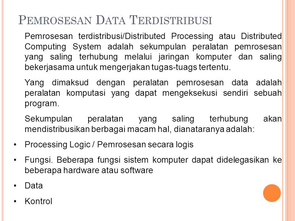 Pemrosesan Data Terdistribusi