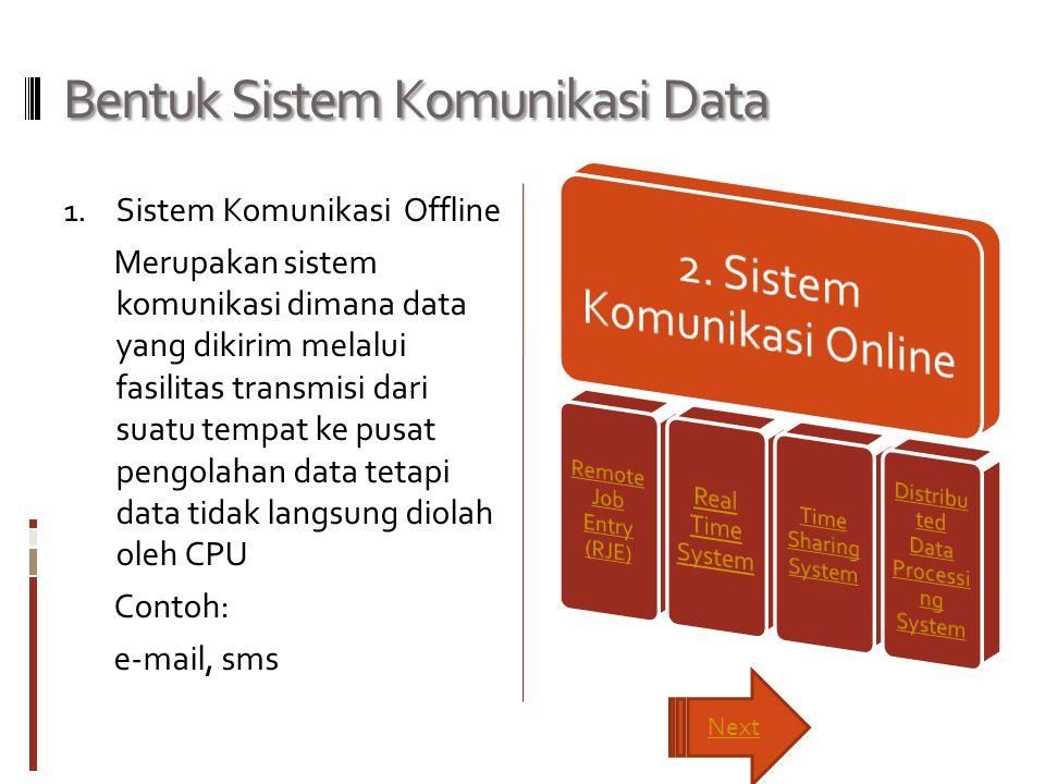 Bentuk Sistem Komunikasi Data