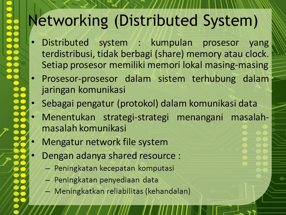 Networking (Distributed System)