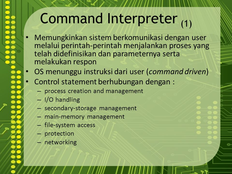 Command Interpreter (1)