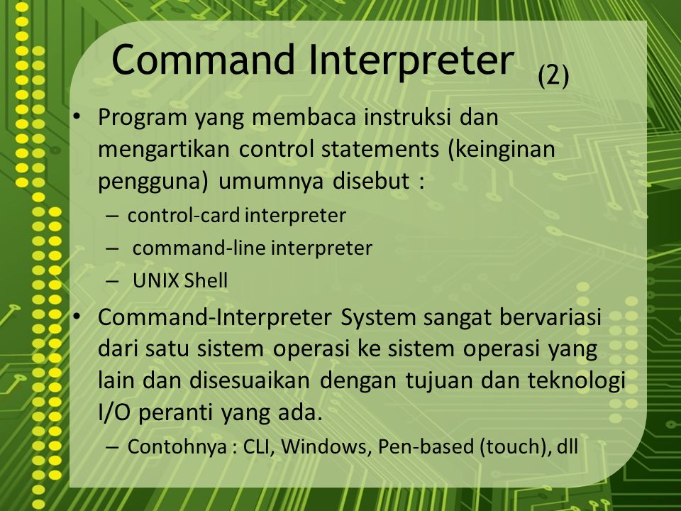 Command Interpreter (2)