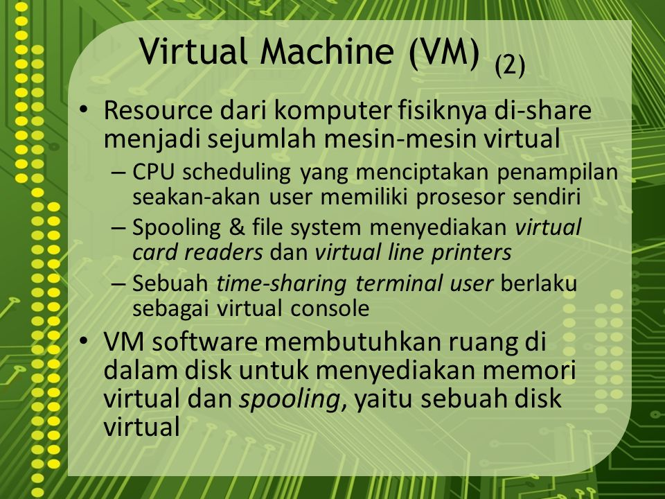 Virtual Machine (VM) (2)