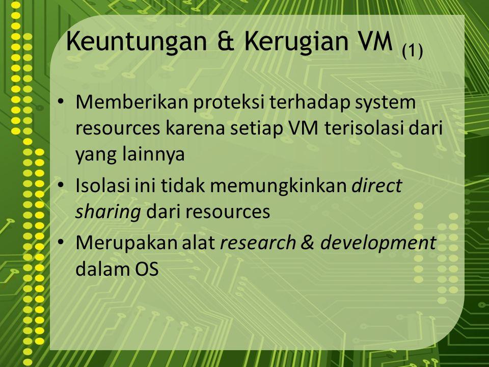 Keuntungan & Kerugian VM (1)