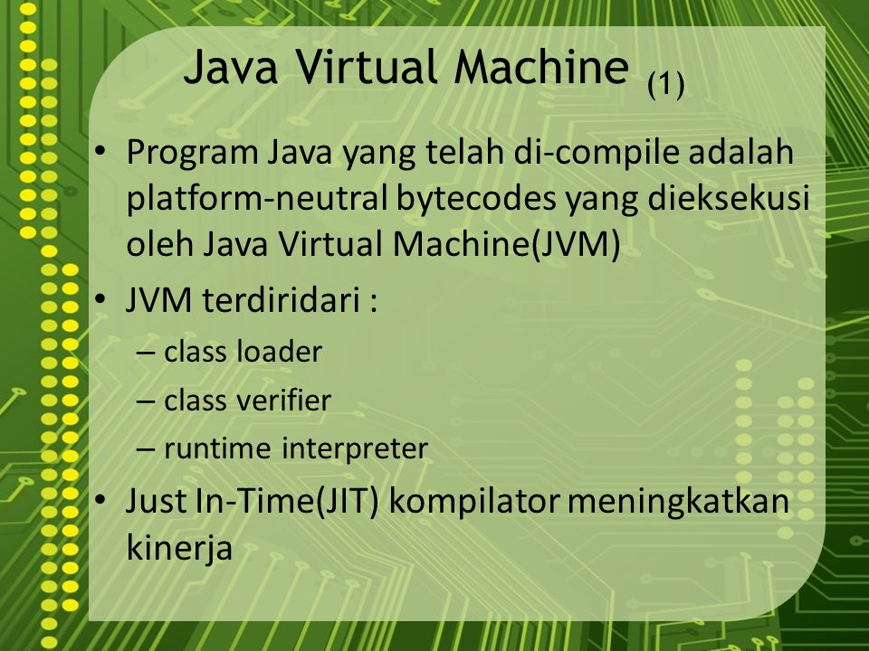 Java Virtual Machine (1)