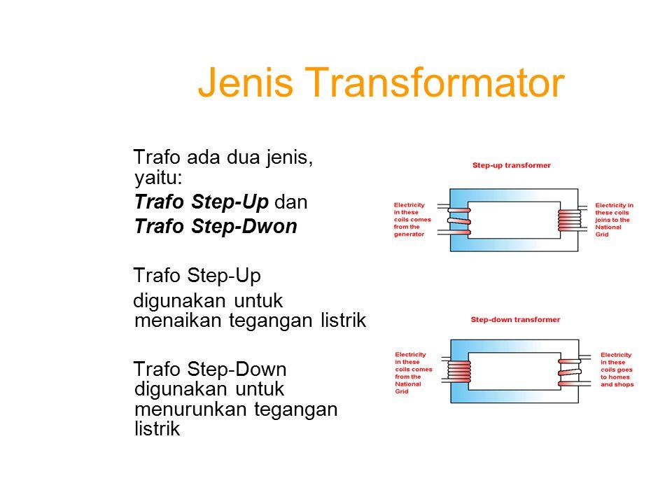 Jenis Transformator Trafo ada dua jenis, yaitu: Trafo Step-Up dan