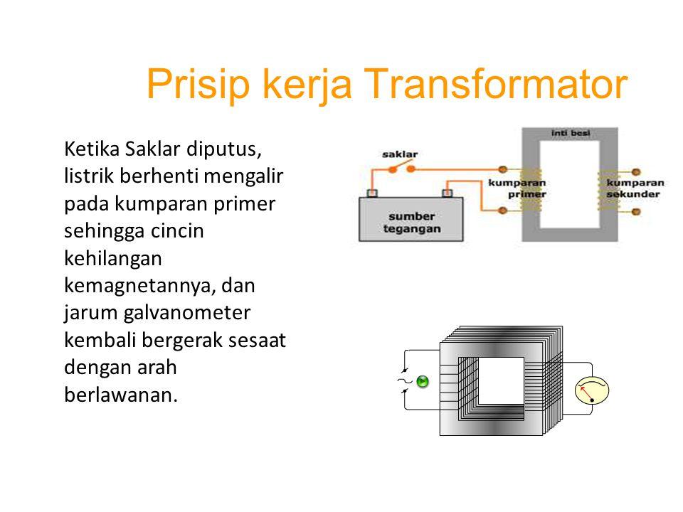 Prisip kerja Transformator