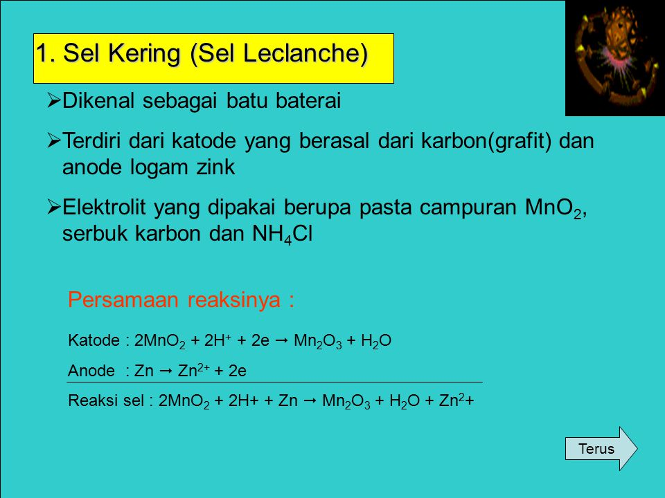 1. Sel Kering (Sel Leclanche)