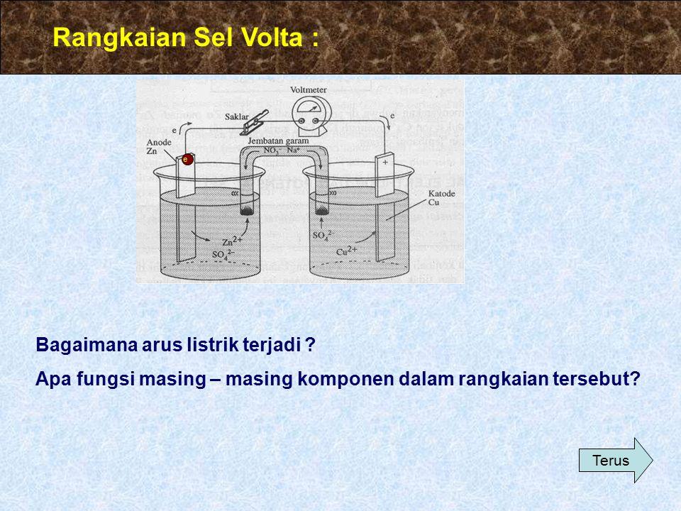 Rangkaian Sel Volta : Bagaimana arus listrik terjadi