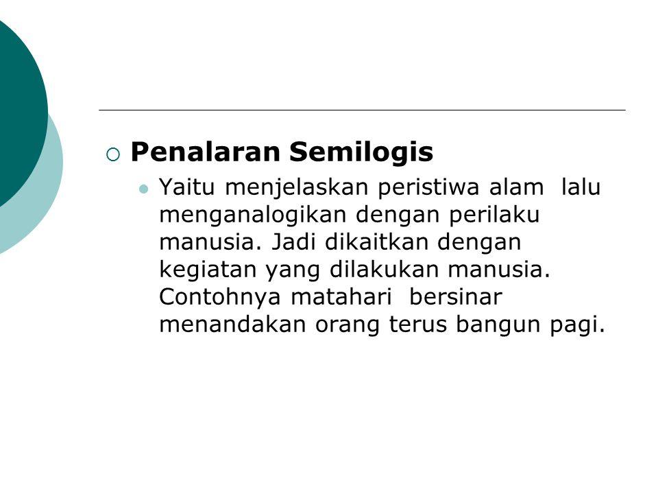 Penalaran Semilogis