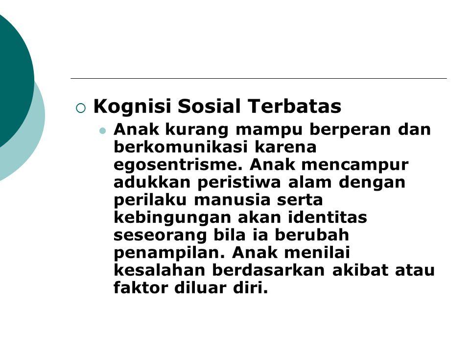 Kognisi Sosial Terbatas