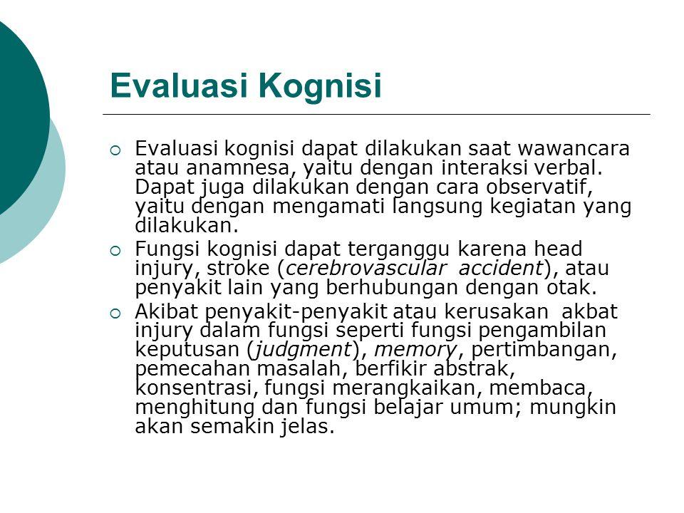 Evaluasi Kognisi