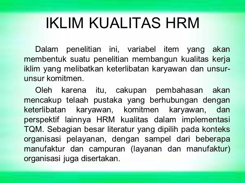 IKLIM KUALITAS HRM