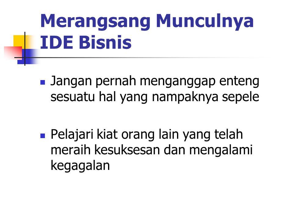 Merangsang Munculnya IDE Bisnis