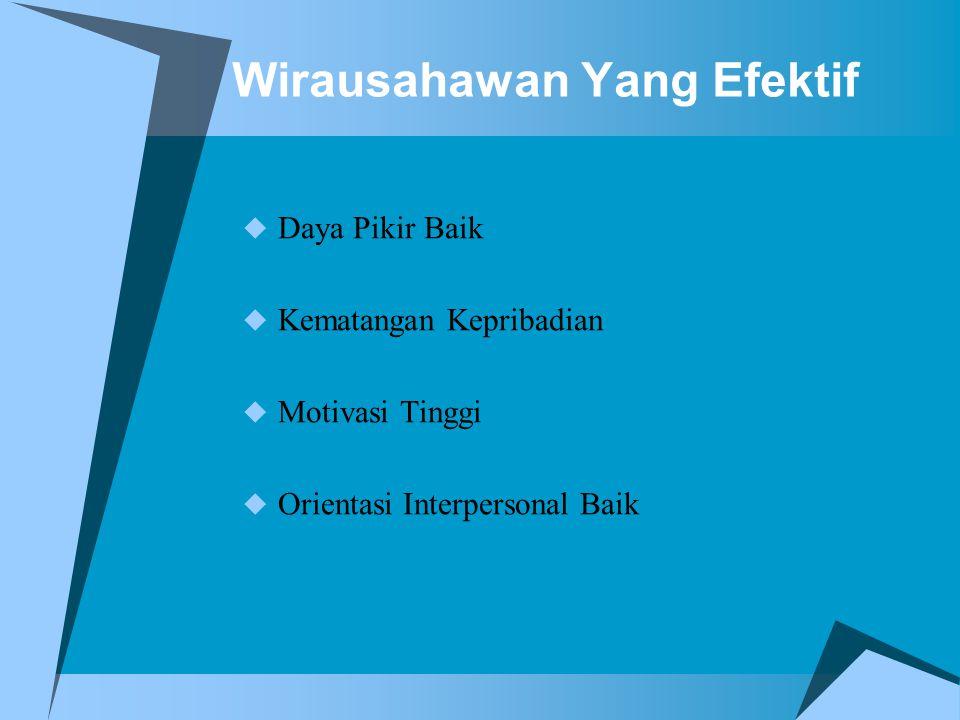 Wirausahawan Yang Efektif