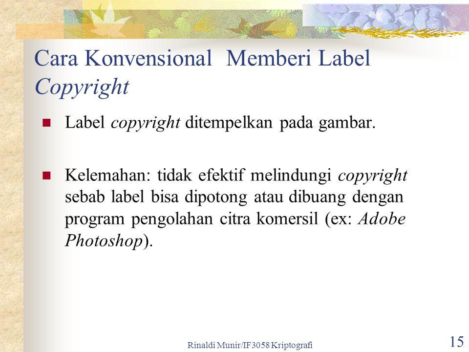 Cara Konvensional Memberi Label Copyright