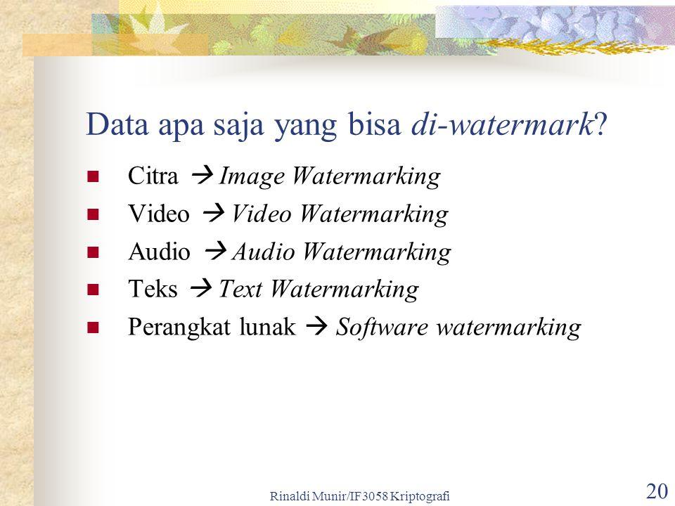 Data apa saja yang bisa di-watermark