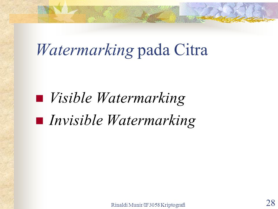 Watermarking pada Citra