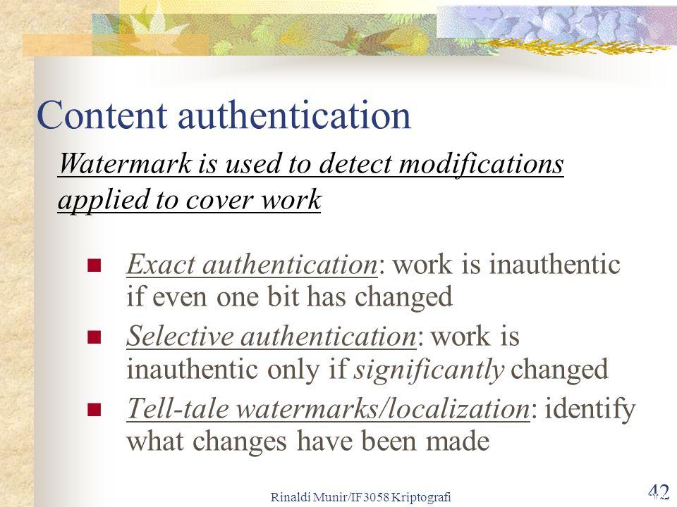 Content authentication