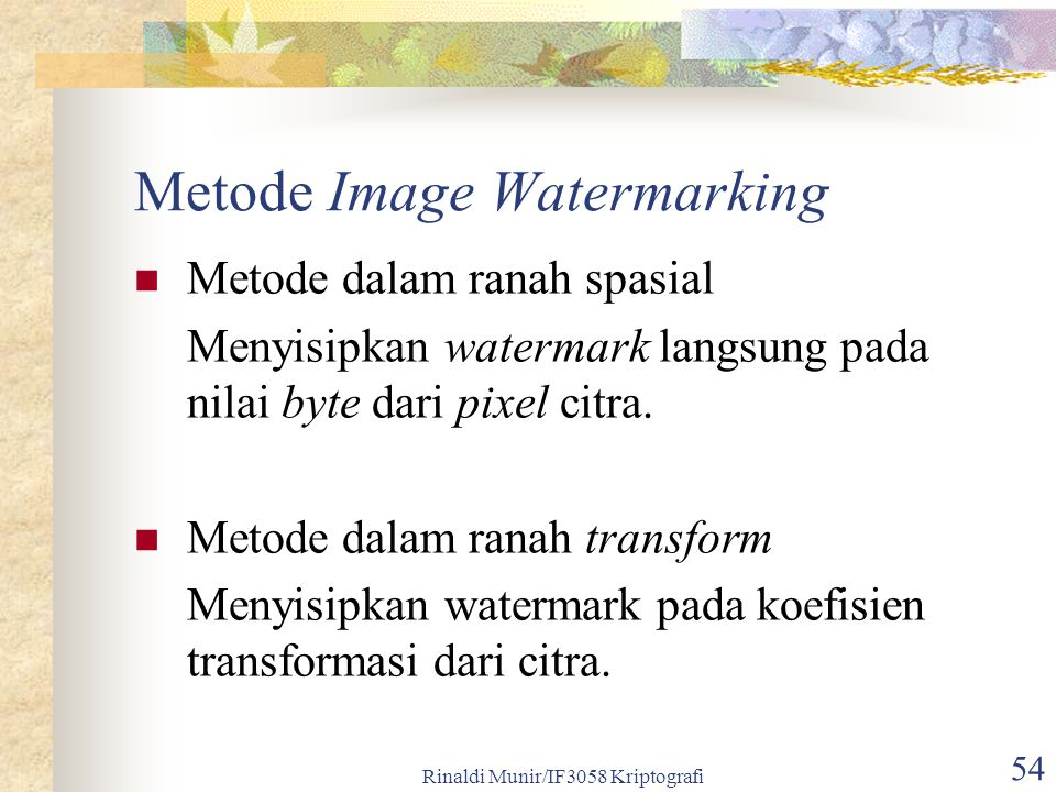 Metode Image Watermarking