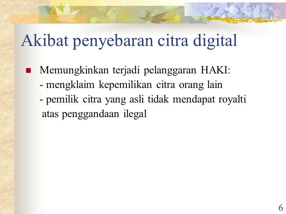 Akibat penyebaran citra digital