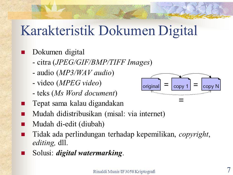 Karakteristik Dokumen Digital