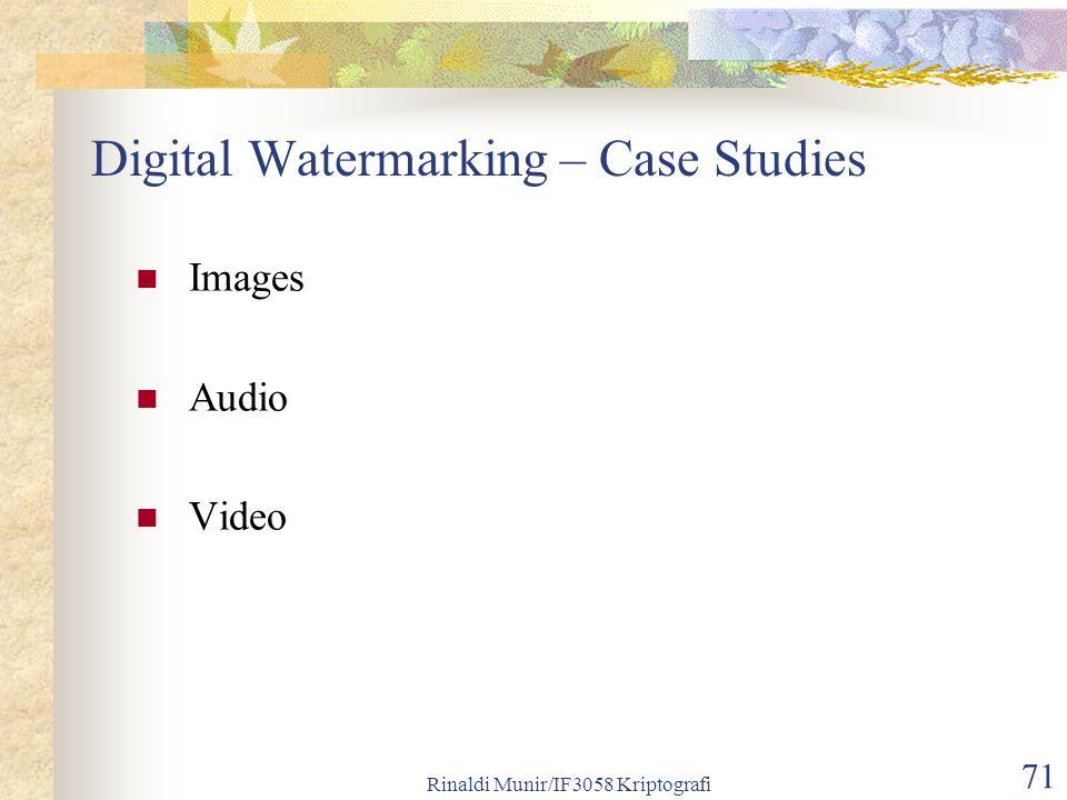 Digital Watermarking – Case Studies