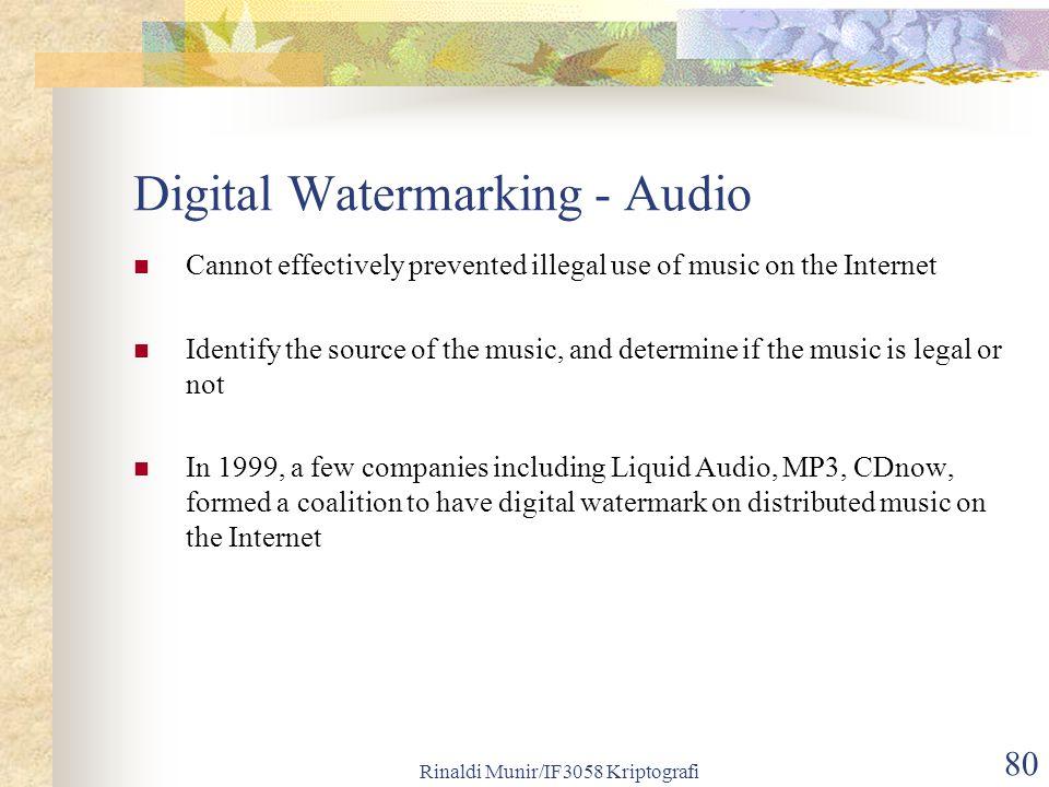 Digital Watermarking - Audio