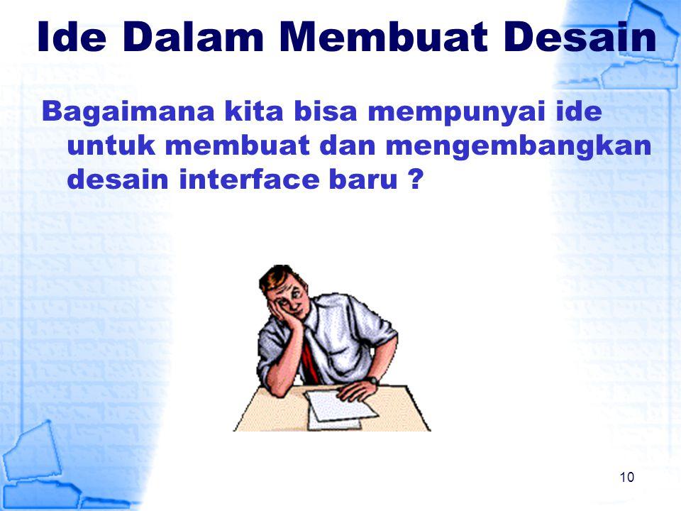 Ide Dalam Membuat Desain