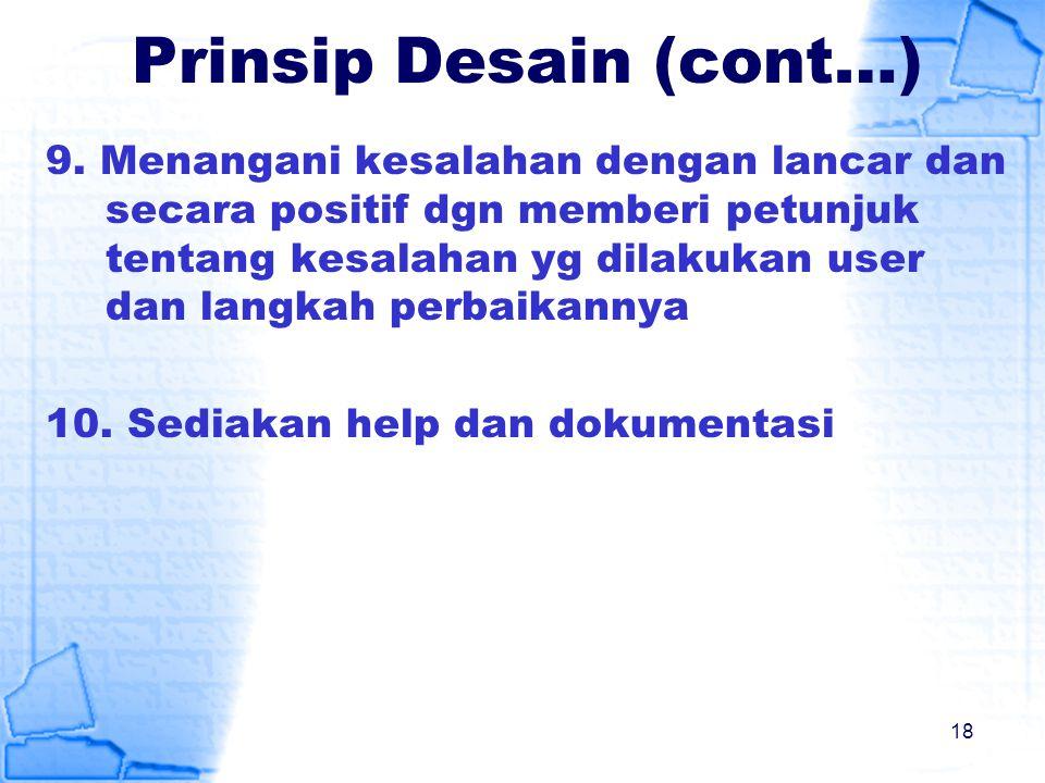 Prinsip Desain (cont…)