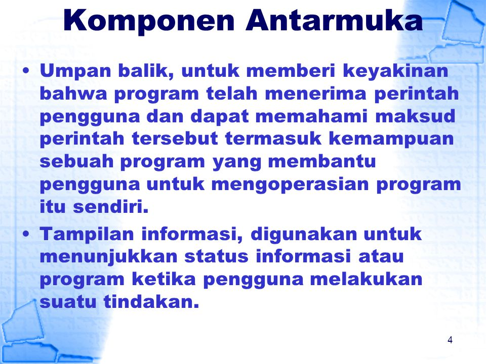 Komponen Antarmuka