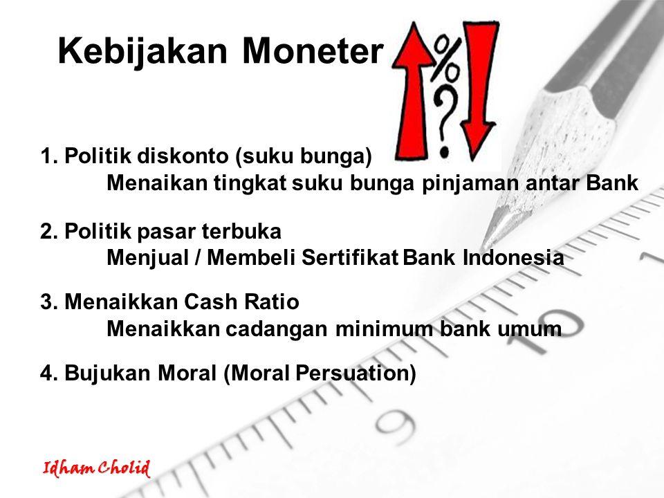 Kebijakan Moneter 1. Politik diskonto (suku bunga)