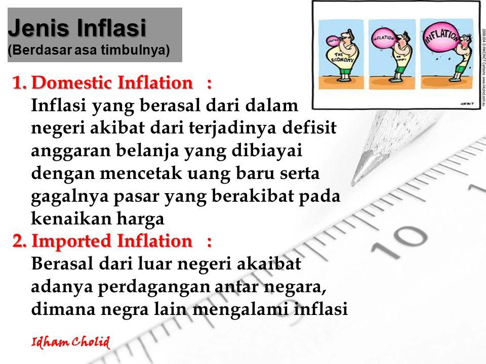 Jenis Inflasi (Berdasar asa timbulnya)