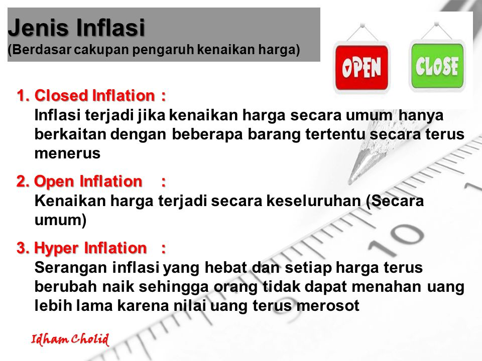 Jenis Inflasi (Berdasar cakupan pengaruh kenaikan harga)