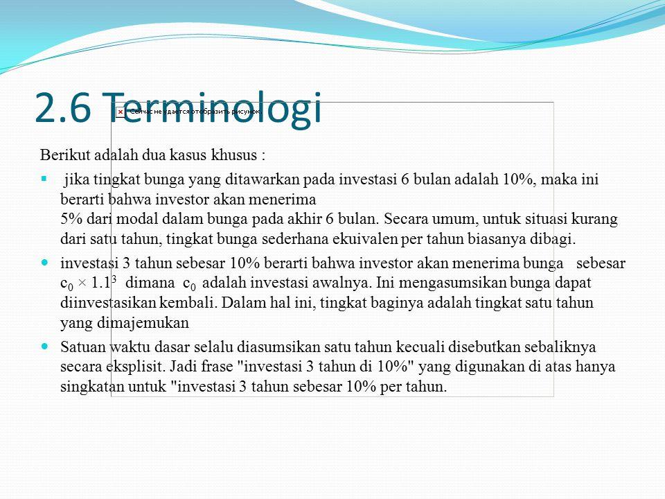 2.6 Terminologi Berikut adalah dua kasus khusus :