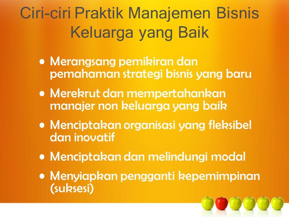 Ciri-ciri Praktik Manajemen Bisnis Keluarga yang Baik