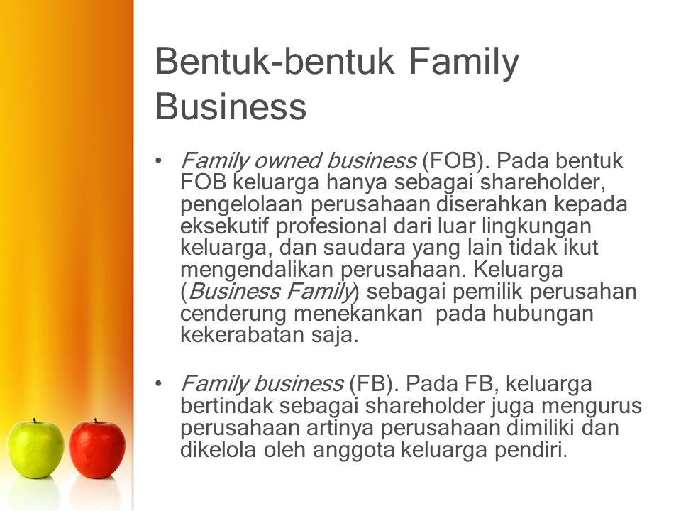 Bentuk-bentuk Family Business