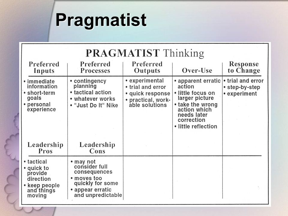 Pragmatist