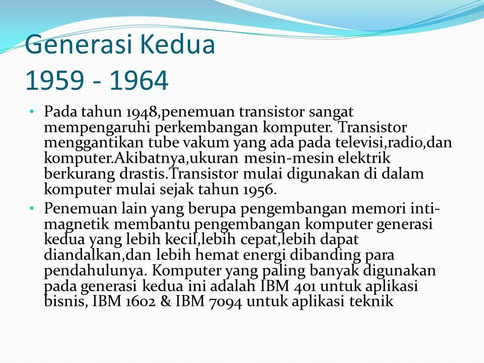 Generasi Kedua 1959 - 1964