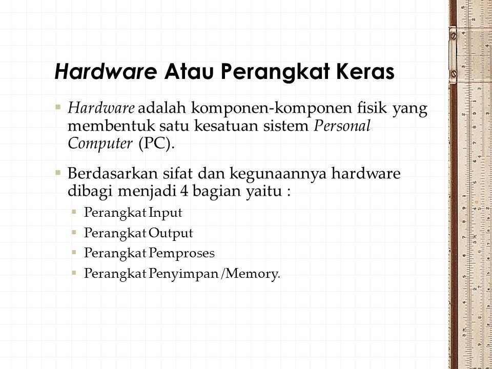 Hardware Atau Perangkat Keras