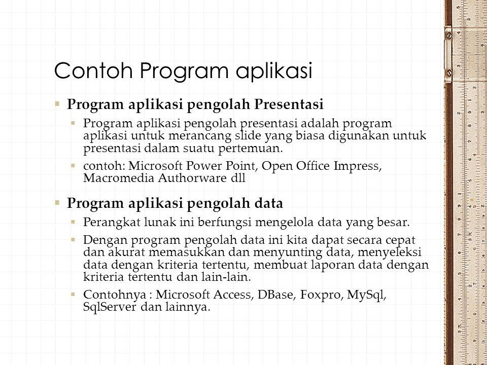 Contoh Program aplikasi