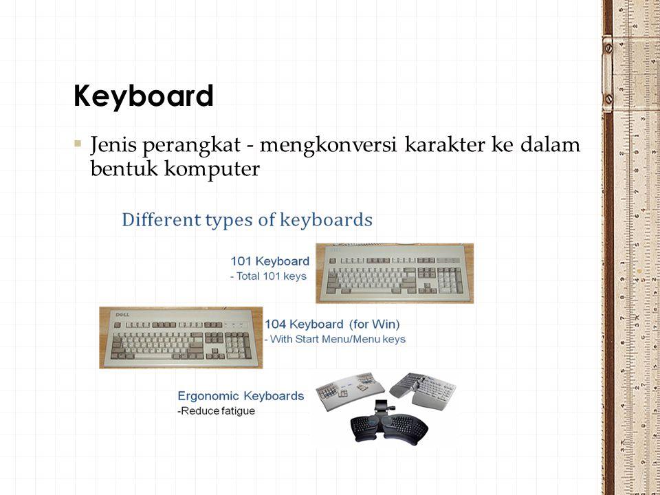 Keyboard Jenis perangkat - mengkonversi karakter ke dalam bentuk komputer