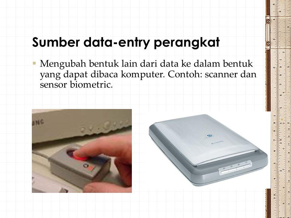 Sumber data-entry perangkat