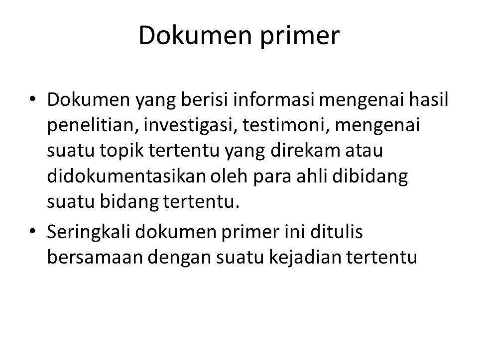 Dokumen primer