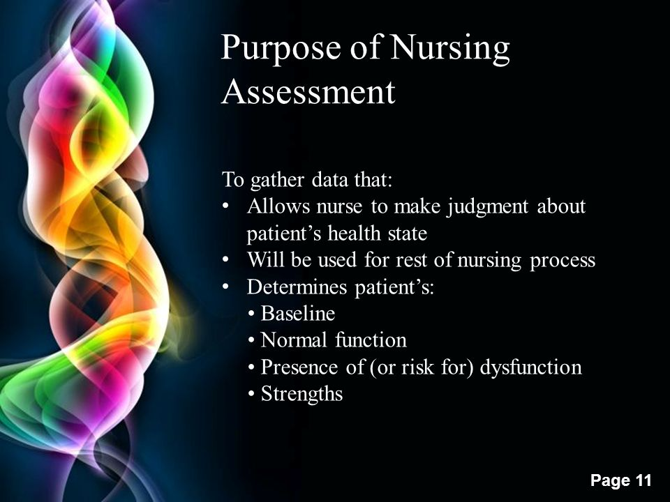 Purpose of Nursing Assessment