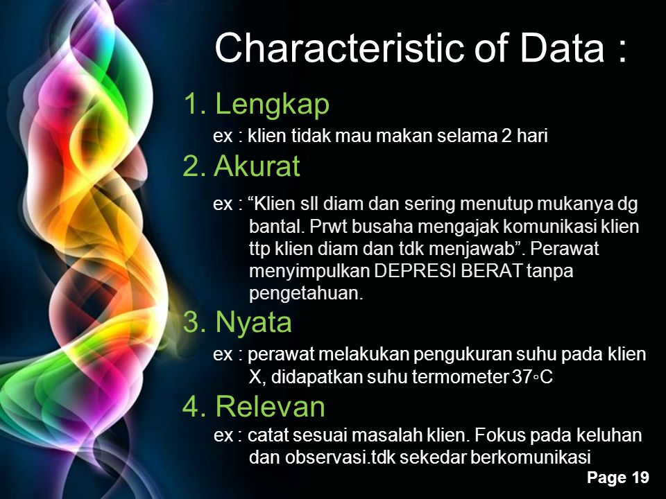Characteristic of Data :