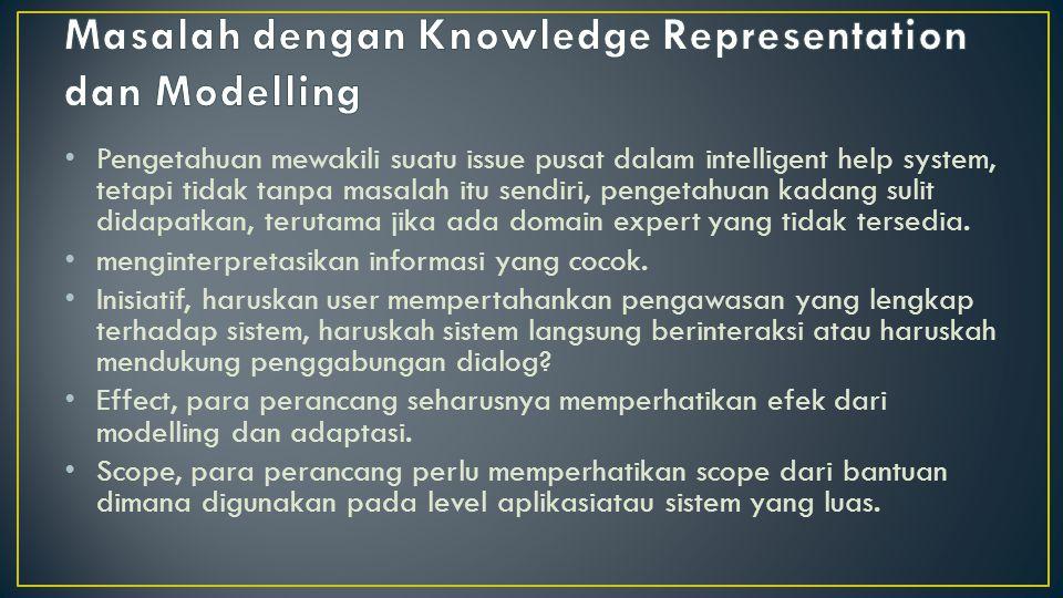 Masalah dengan Knowledge Representation dan Modelling