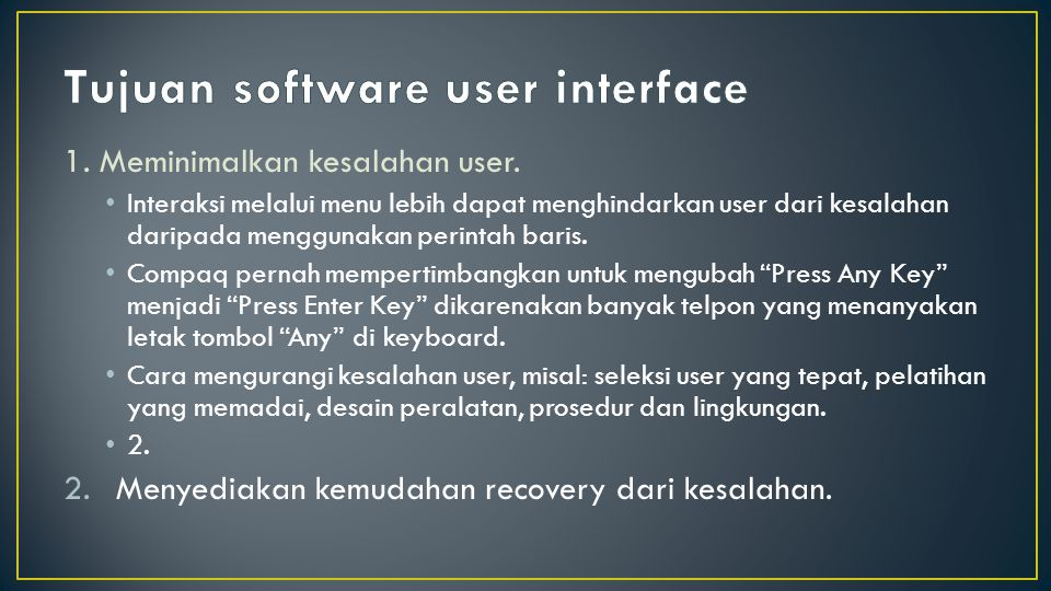 Tujuan software user interface